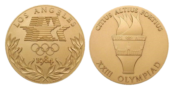 Los Angeles Summer Olympics Participation Medal