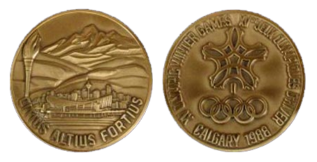 Calgary Winter Olympics Participation Medal