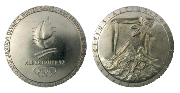 Albertville Winter Olympics Participation Medal